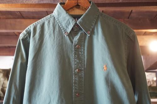 00's Ralph Lauren cotton Shirt w/ elbow patches