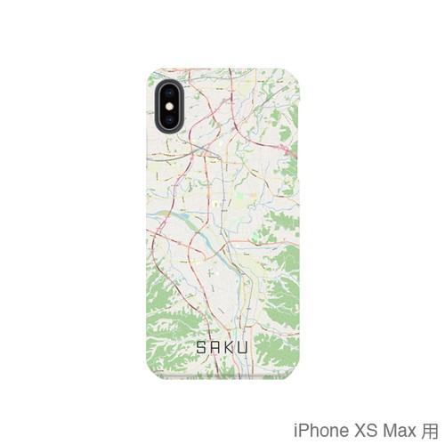 【佐久】地図柄iPhoneケース(バックカバータイプ・ナチュラル)