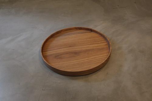 円居という名の木の器 φ240皿 胡桃