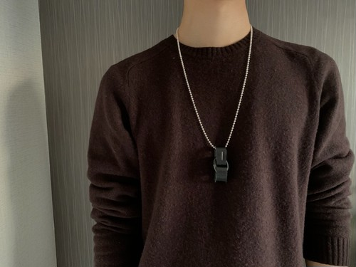 Leather ring necklace