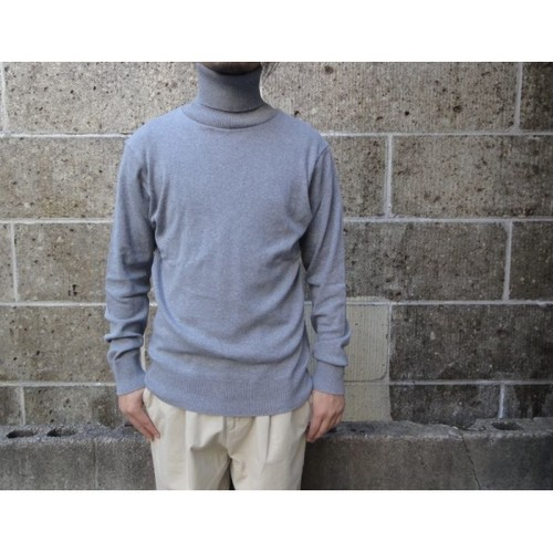 gicipi (ジチピ) COTONE SOFT TURTLE NECK LS グレー