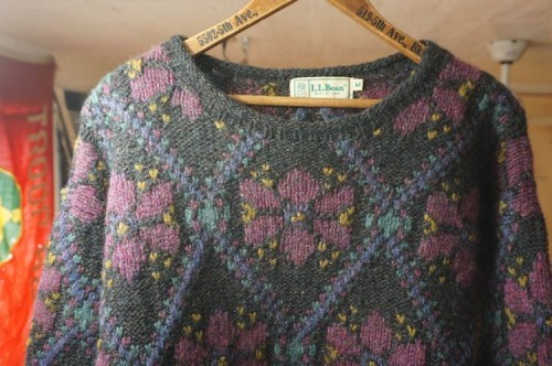 80's L.L.Bean flower crewneck Sweater
