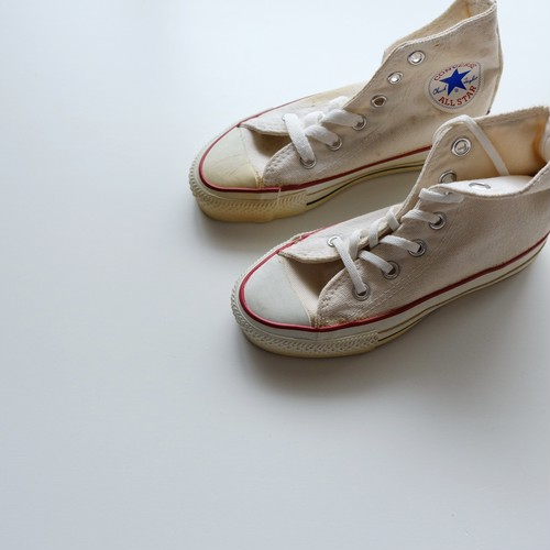 <US USED>Vintage Converse Allstar made in USA White size Youth 11 1/2