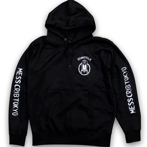 "MESS CRIB TOKYO ""SCUMCYCLE HOODIE"" by SCUMBOY"