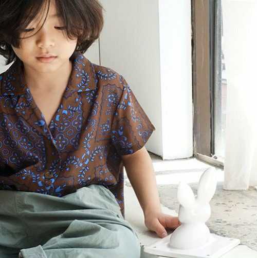 20%OFF 100サイズ ラスト1点 WELL(maybewell) summer shirts(100,110,120,130,140)