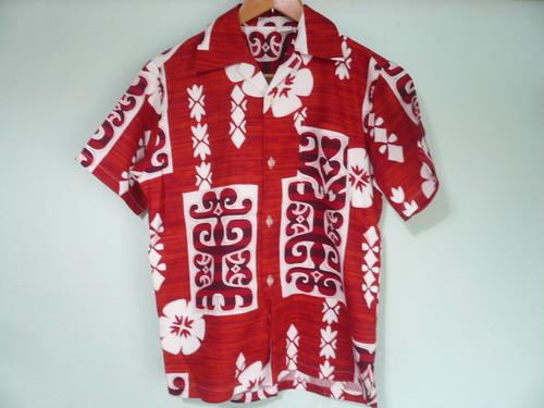 ビンテージ コットンハワイアンシャツ ほぼデッドストック / 70s 80s OLD HAWAII