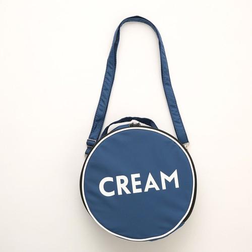 Aquvii 丸形 ショルダーバッグ 青缶 クリーム