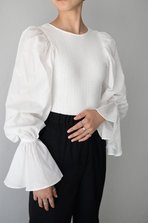 ERiKOKATORi / cotton blouse body suit (white)
