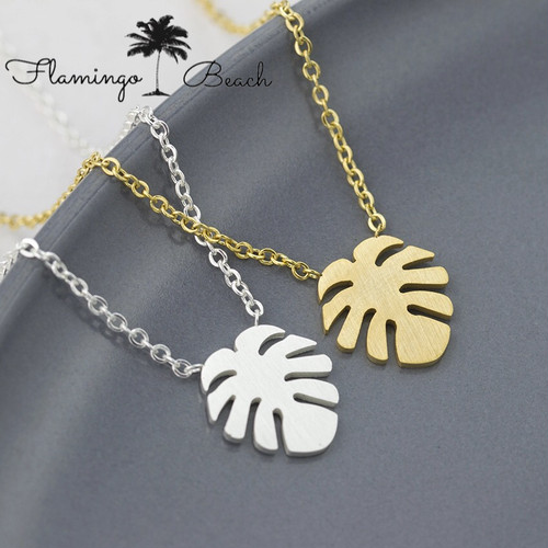 【FlamingoBeach】leaf necklace