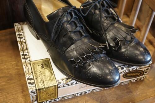 old SALVATORE FERRAGAMO fringed dress Shoes