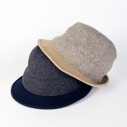 水野ミリナー 羊毛を使用したマニッシュハット [62-9203]