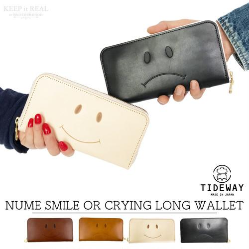 TIDEWAY タイドウェイ 本革 長財布 ヌメ スマイル オア クライング ロングウォレット メンズ レディース 日本製