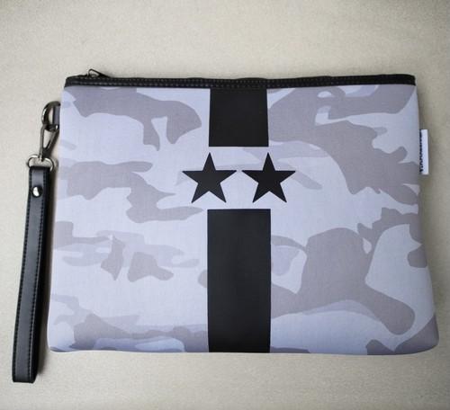 Gray Starline black camouflage clutch