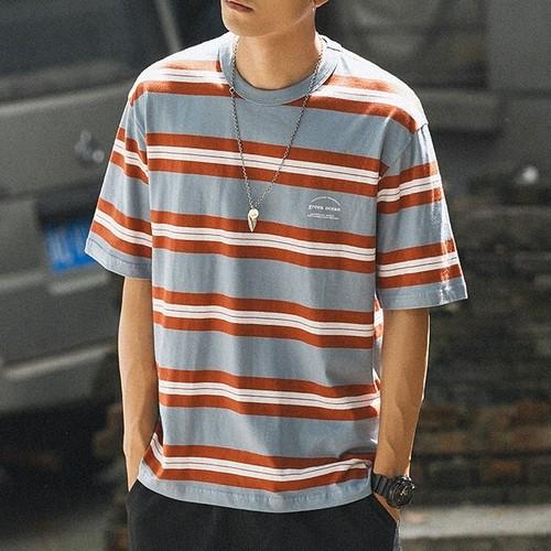 クルーネックボーダーTシャツ BL6151