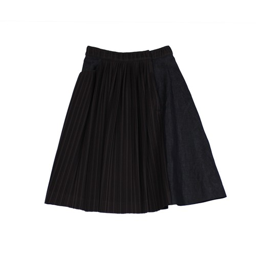 貴州 Gui Yang Skirt  - Linen denim / MIAO BLUE