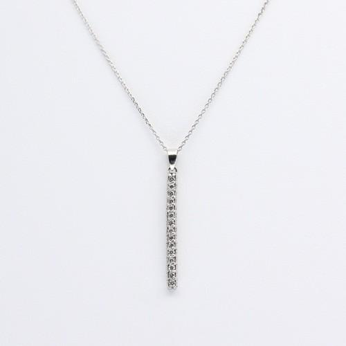 PT900/850 0.5ct ダイヤモンドネックレス ●