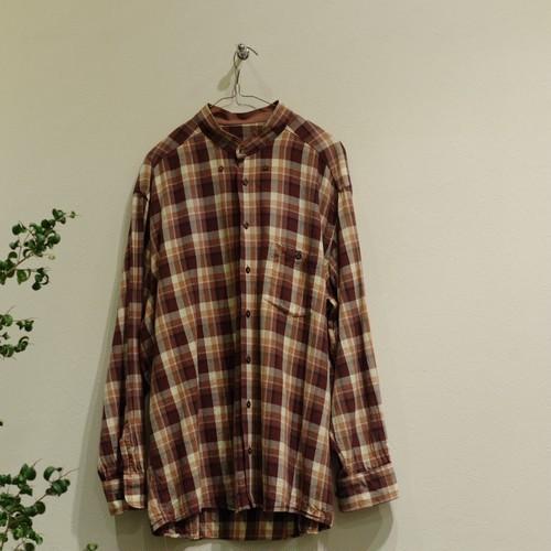 Re Make Shirt / リメイク バンドカラー シャツ