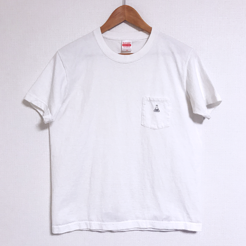 [t-shirt] pocket logo / white
