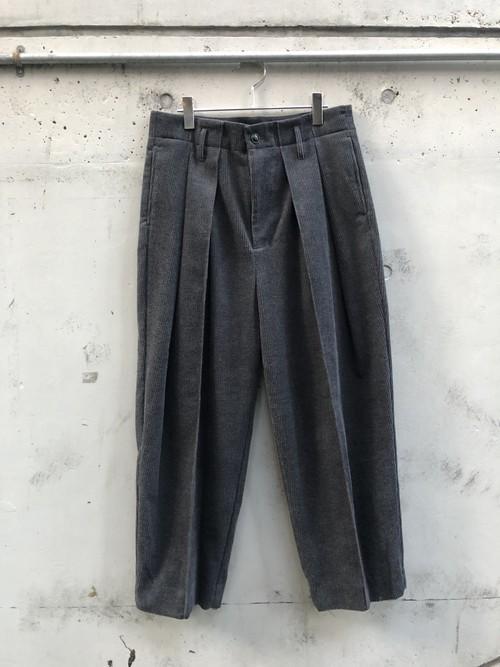 『VOAAOV』washing corduroy wide pants / CHARCOAL