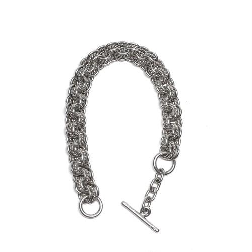 Vintage Mexican Triple Chain Link Toggle Bracelet