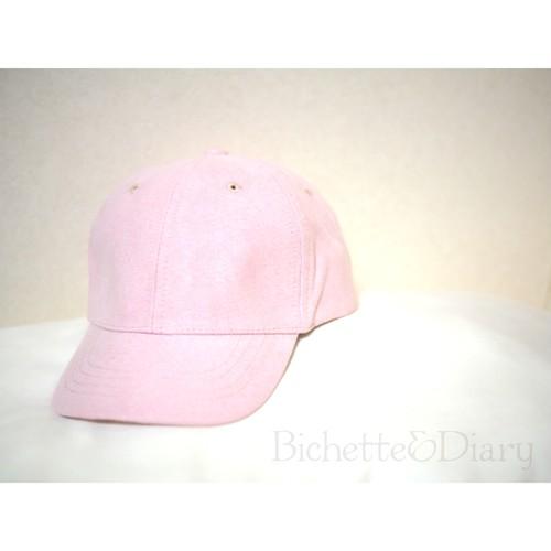 限定★スエード調キャップ(ピンク)