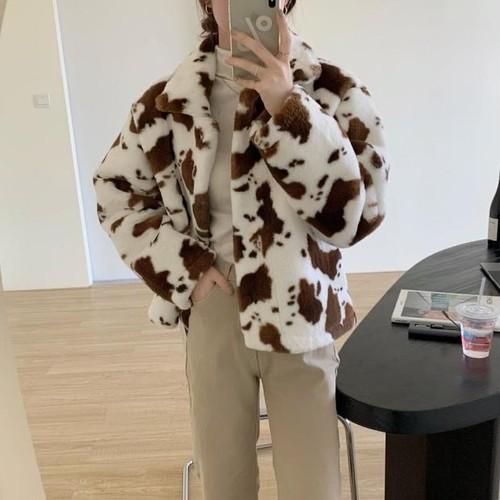 cow fur jacket 2c's