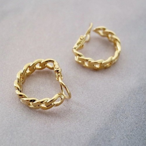 rope earring gold