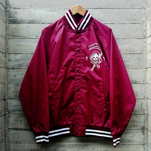 CARPE DIEM/nylon stadium jacket col.bur