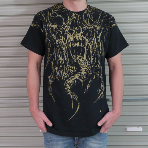Maw of Necrosis T-shirt Gold