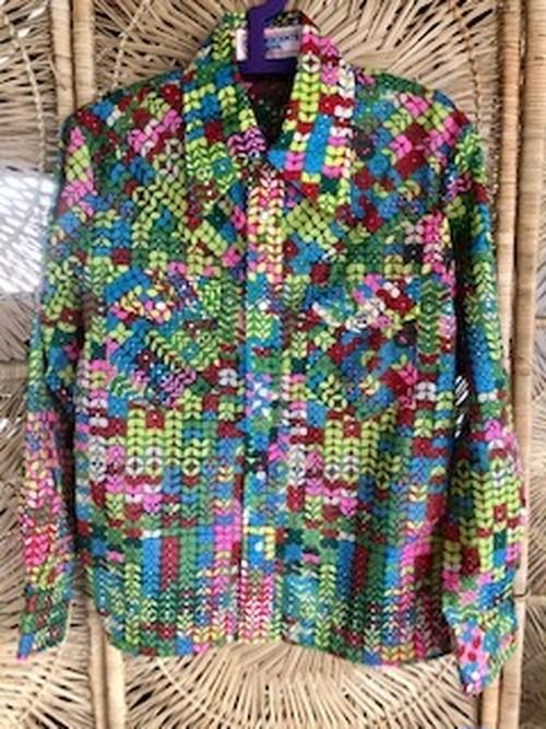 Vintage 70sプリントナイロンシャツ