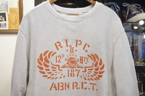 """Ralph Lauren military style printed Sweat """"piece-dyed"""""""