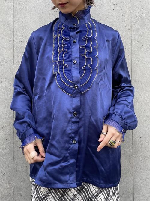 (TOYO) design frill l/s blouse