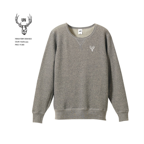 unfudge SWEAT CREW NECK / HEATHER GRAY