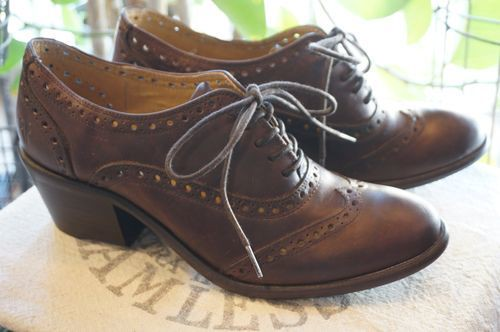 FRYE brown heeled lace-up Shoes