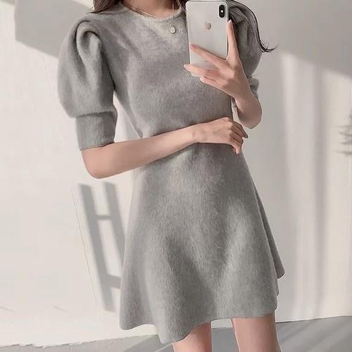air color A line dress 2color