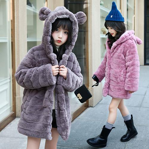 子供 人毛 厚い ファーコート