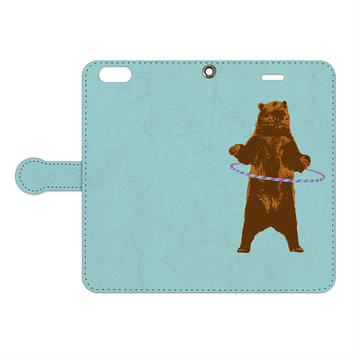 [手帳型iPhoneケース] Bear and ring