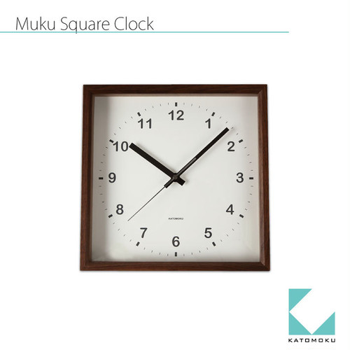 KATOMOKU square clock km-37BRC 電波時計