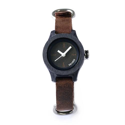 タックス TACS NATURE-S 腕時計 TS1402A ブラック×ブラウン ブラック