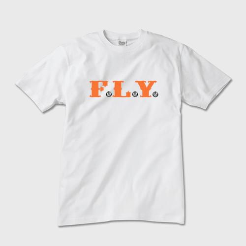 F.L.Y. Crew-Neck T (白×オレンジ)