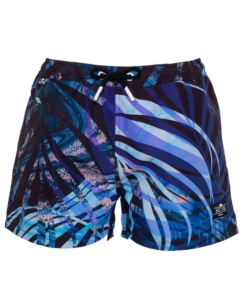 SUNS MARBLE IN PALM LEAF SWIM SHORTS[RSW042]