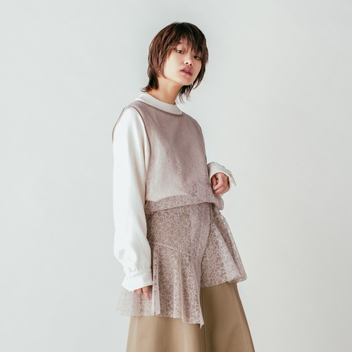 Cross Layered Pullover - Beige