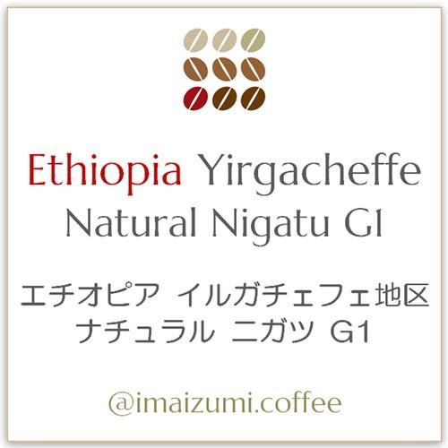 【送料込】エチオピア イルガチェフェ地区 ナチュラル ニガツ G1 - Ethiopia Yirgacheffe Natural Nigatu G1 - 300g(100g×3)