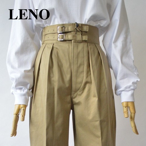LENO/リノ・DOUBLE BELTED GURKHA TROUSERS
