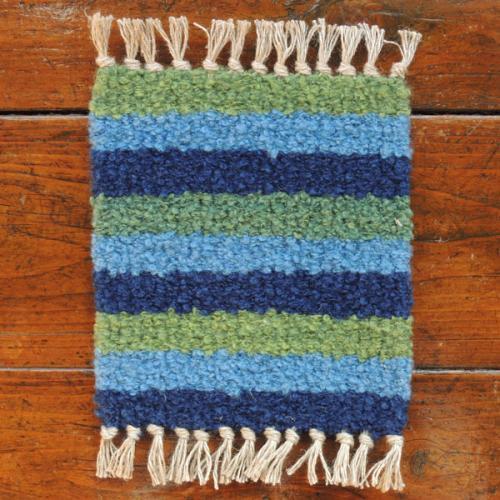 ウールの手織りコースター 【05】