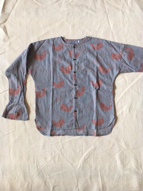 30% off  whale print shirt シャドーブルーLサイズ ¥12852 →