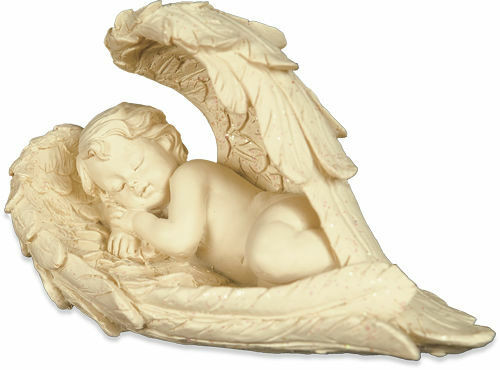羽の中に眠る天使の置物(1対:2個セット)・Sサイズ