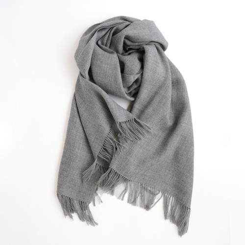 THE INOUE BROTHERS/Non Brushed Large Stole/Light Grey
