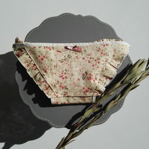 lingerie*antique flower フリルランジェリー