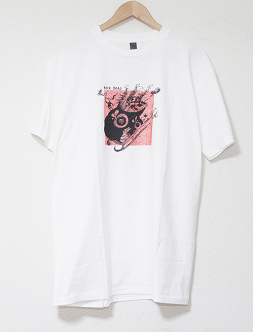 【NECK DEEP】Holiday T-Shirts (White)
